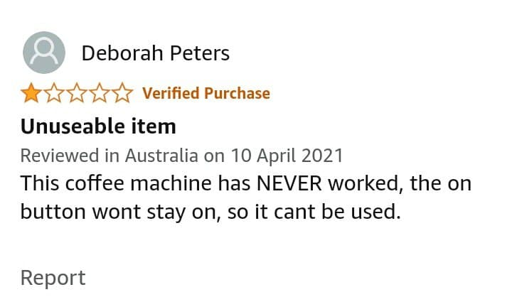 Swan Espresso Machine reviews
